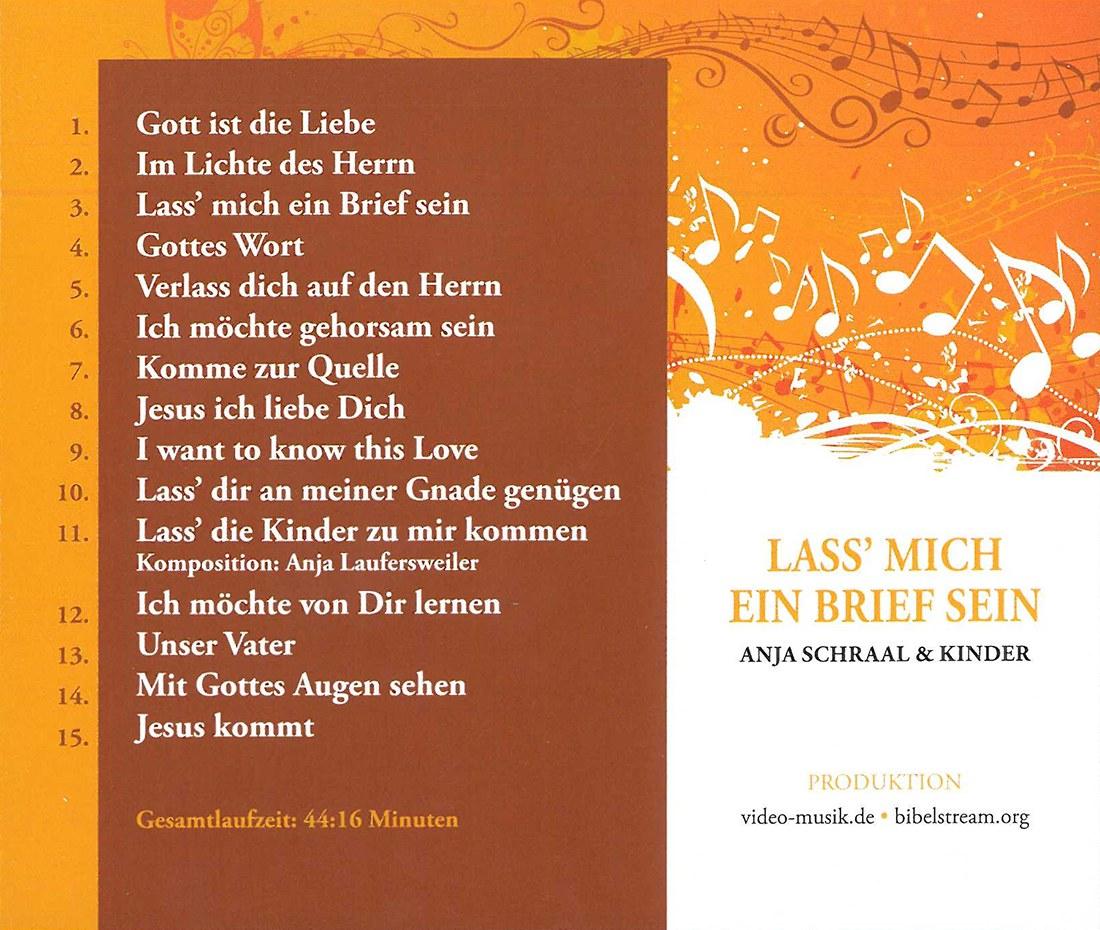 Briefe Von Gott An Mich : Lass mich ein brief sein musik cd adventist book center